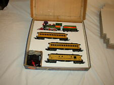 AMERICAN FLYER BOX INSERTS ONLY NO TRAINS FOR FRONTIER SET AND 3 PASSENGER CARS