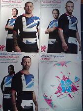 OLYMPIC GAMES LONDON 2012 FULL SET OFFICIAL FOOTBALL PROGRAMMES  INC TEAM GB