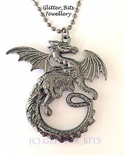 LOTR HOBBIT DESOLATION OF SMAUG NECKLACE DRAGON LORD OF THE RINGS PENDANT CHARM