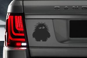 Hairy Monster Custom Vinyl Sticker Decal, Car Decal,*Various Colours*