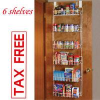 Over the Door Storage Rack Kitchen Pantry Shelf Organizer Spice Space Saver