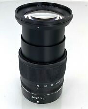 Nikon NIKKOR Z 24-70mm f/4 S Lens w/Caps, Hood & B+W CP Filter MINT!