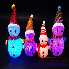 Multicolore Noël Bonhomme Neige Christmas LED Lampe Déco Lumière Enfant Cadeau