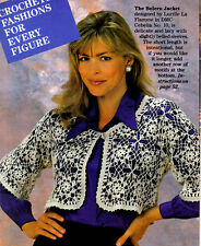 DELICATE Lacy Bolero Jacket/Apparel/ Crochet Pattern INSTRUCTIONS ONLY