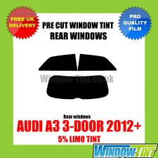 Audi A3 3-door 2012 + 5% Limousine hinten Vorgeschnittene Scheibentönung