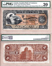 1912 $5 Canadian Bank of Commerce (CIBC) 75-14-14a   PMG VF20