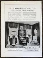 1931 Celanese Decorative Fabrics Print Ad A Charming Biedermeier Manner