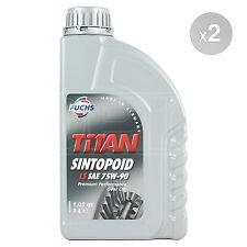 Fuchs TITAN SINTOPOID LS SAE 75W-90 Synthetic Gear Oil 75W90 2 x 1 Litre 2L