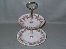 """Wedgwood """"Ivy House"""" Small 2-Tier Biscuit Cake Plate Stand"""