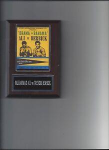 MUHAMMAD ALI vs TREVOR BERBICK POSTER PLAQUE BOXING PICTURE PLAQUE