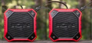 ION Dunk (2-pack in Red ) Waterproof Portable Bluetooth® Speaker