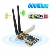 600Mbps Dual Band 2.4G/5G WiFi Wireless PCI-Express Network Adapter Desktop Card