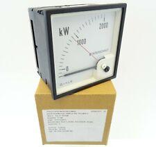 Drehspulinstrument Wattmeter DEIF GQ96 Delomatic Leistungsmesser 200-0-2000kW