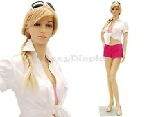 Female Unbreakable Plastic Mannequin Display Dress Form PS-G1+FREE Wig
