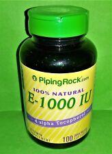 Vitamina E 1000 IU 100% Natural 100 perlas Piping Rock
