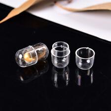 10x Empty Gelatin 14*24mm Capsules Transparent Clear Color Gel Caps Vogue W&C