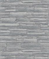 Wallpaper Rasch - Urban Brick / Stone / Slate - Grey - Luxury Portfolio - 281200