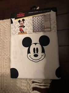 Disney Mickey Mouse Shower Curtain Novelty Print Mickey Print 72 X 72 NEW Cute