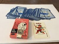 VINTAGE WHITMAN FIFTH AVENUE BOAT PLAYING CARDS WITH TAX STAMP MISSING ONE JOKER