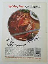 1968 Holiday Inn Hotel restaurants serve the best everywhere prime rib meat ad
