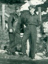 Canadian corporal and a soldier wearing a leather jerkin, WW2, Original Photo