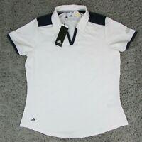 Adidas Women's Ultimate 365 Athletic Polo Shirt White Size Large DV3180 UPF 50