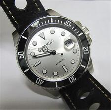 Parnis Japan Automatic Men's Watch Sapphire Crystal Ceramic Bezel Leather Strap