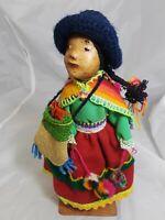 "Peruvian Folk Souvenir Doll 10"" Tall"