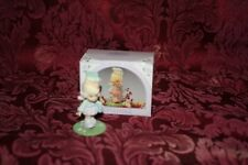 Precious Moments 1989 # 573493 Mini Monthly Figurine September W/ Box Used