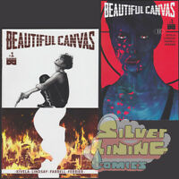 BEAUTIFUL CANVAS #1 Set of Two A + B VARIANT (2017) BLACK MASK COMICS