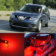 9Pcs Red Interior LED Light Package Fit For 2014 - 2016 Nissan Rogue