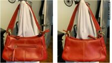 TOMMY HILFIGER Red Faux Leather SATCHEL PURSE~Ring & Eyelet Accents~Exc.Pre Own