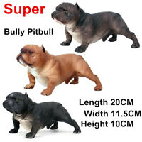 Super American Bully Pitbull Dog Pet Animal Figure Model Toy Collector Kids Gift
