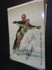 92263 Peggy Schwarz Eiskunstlaufen Olympia original signiert Autogramm Karte