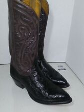 Tony Lama Brown Black Leather Western Cowboy 9039 Mens Size 8 D