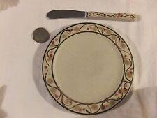 david hilton Studio Pottery plate and knife