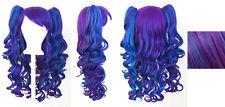 20'' Lolita Wig + 2 Pig Tails Set Purple, Blue Mix Blend Cosplay Gothic Sweet