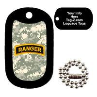 Military Dog Tag - Army Ranger Patch ACU Camo - LUGGAGE TAG - Tag-Z Dog Tags