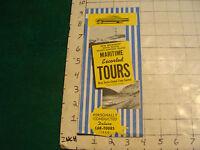 vintage CLEAN Brochure: 1960 Maritme escorted Tours NOVA SCOTIA