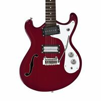 Danelectro 66BT Classic Semi-Hollow Baritone Guitar - Transparent Red