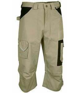 COFRA BELFAST Pantalone pinocchietto da lavoro corda/nero TG. 50 100% cotone