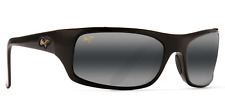 Maui Jim PEAHI 202-02 Gloss Black/Grey Polarized Sunglasses GENUINE NEW