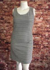 Attention Black White Stripes Sheath Dress Size L