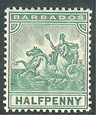 Barbados 1905 green 1/2d multi-crown CA mint SG136
