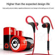 Casque Écouteur Bluetooth 4.0 Sans Fil Sport Magnetique Mains-libres  ROUGE