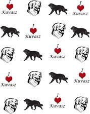 I Love (Heart) Kuvasz Waterslide /Water Transfer Nail Decals/Nail art