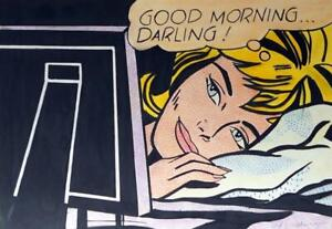 ROY LICHTENSTEIN / Awesome Mixed Media on Paper, Drawing Signed. Pop Art