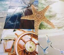 Stoff Meterware Fotodruck Strand Seestern Atoll Yacht segeln Dekostoff Neu Meer