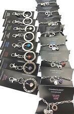 16 x GEMSTONE CHARM CHAIN BRACELETS & BAG CHARMS Jewellery Wholesale Job Lot CC1