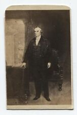 ANTIQUE CDV PHOTO OF ETCHING OF DANIEL WEBSTER.